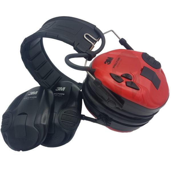 peltor sporttac red czerwone czarne
