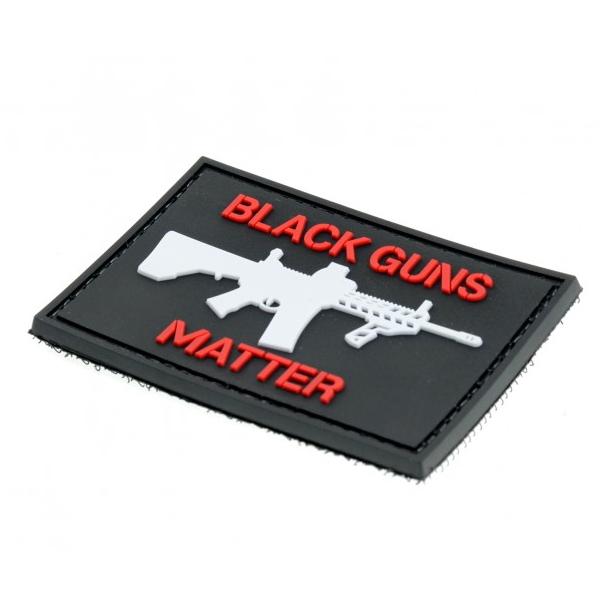 BLACK GUNS MATTER naszywka PVC 3D morale patch