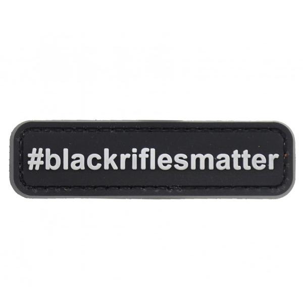 BLACK RIFLES MATTER naszywka PVC 3D morale patch