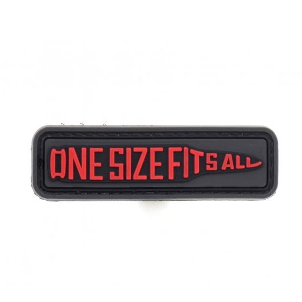 ONE SIZE FITS ALL naszywka PVC 3D morale patch